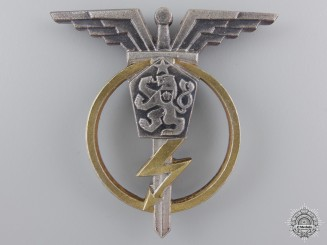 A Czechoslovakian Socialist Air Force Radio Telegraphist Badge; 3rd Class