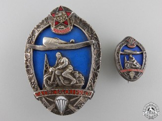 Czechoslovakia, Republic. A Svazarm Dedicated Work Award Badge