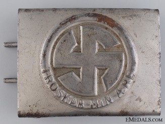 A Ultra Rare Danish Schalburg Corps Belt Buckle