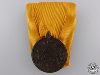 A Dutch Army Long Service Medal; Bronze Grade