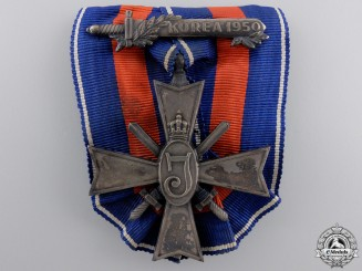 Netherlands, Kingdom. A Cross for Freedom and Justice; Korea 1950