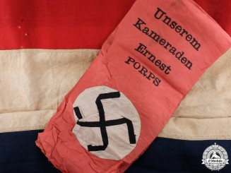 A Dutch Made German Army Funeral Sash & Liberation Flag