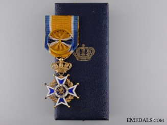 A Dutch Order of Orange-Nassau in Gold; Officers Cross