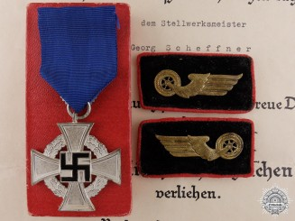 A Faithful Service Award Group to the Reichsbahn