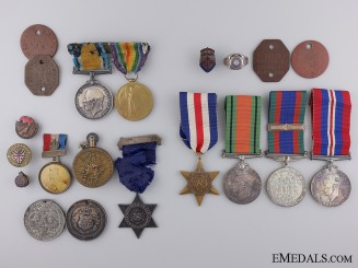 A Father & Son Medal Group; Canadian Machine Gun Brigade