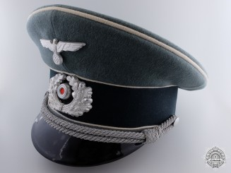 A Fine German Infantry Officer's Visor Named to  E. Crolitz