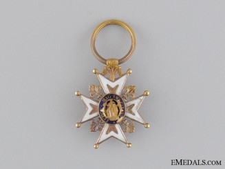 A Fine Miniature French Order of St.Louis in Gold