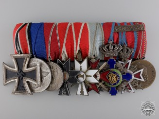 A Fine Second War Unusual German Policeman's Medal Bar