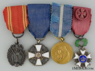 A Fine Swedish Group of Four Miniature Medals