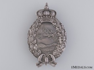 A Fine WWI Bavarian Pilots Badge by Karl Pöllath