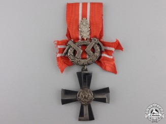 A Finnish Cross of Liberty; Cross Fourth Class with Oak Leaves