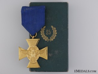 A First Class German Police Long Service Cross