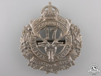 Canada, CEF. A 17th Infantry Battalion Cap Badge