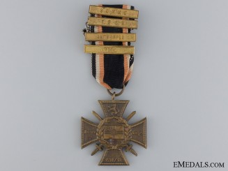 A First War 1914/18 Marine Korps Cross with Four Clasps