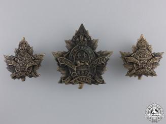 A First War 1st Depot Battalion; 2nd Quebec Regiment Insignia Set