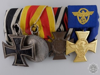 A First War & Police Service German Medal Bar