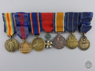 A First War American Miniature Group of Seven Awards