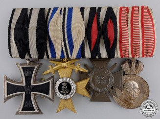 A First War Bavarian Medal Bar