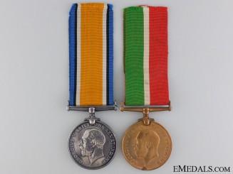 A First War British Mercantile Marine Pair to Benjamin Laird
