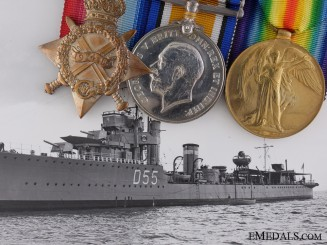 A First War British Naval Group to Destroyer H.M.S. Venetia