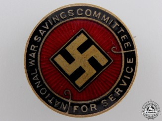 A First War British National War Savings Committee Badge