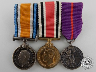 A First War British Empire Medal Miniature Group