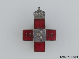 A First War Bulgarian Red Cross Badge 1915