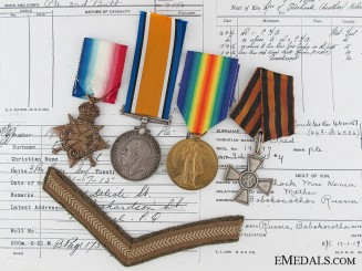 A First War Canadian St.George Cross Recipient