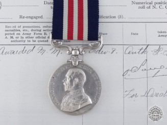A First War Canadian Military Medal to the 4th Infantry Battalion