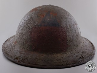 A First War Canadian 3rd Battalion Marked Helmet