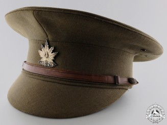A First War Canadian Officer's Dress Visor by Tress & Co