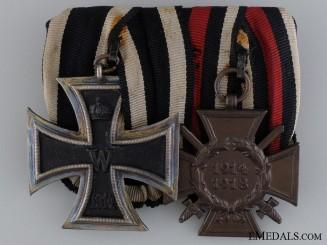 A First War German Medal Pair; Reichsverband Pforzheim