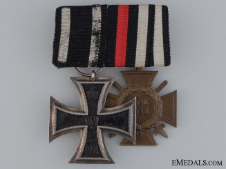 A First War German Medal Bar; Marked G3