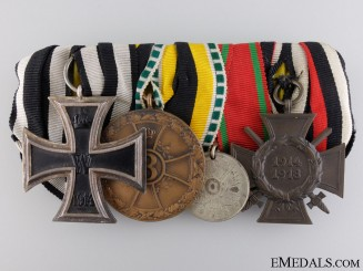 A First War German & Turkish Liyakat Medal Bar
