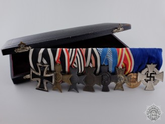 A First War German Imperial Medal Bar in Case