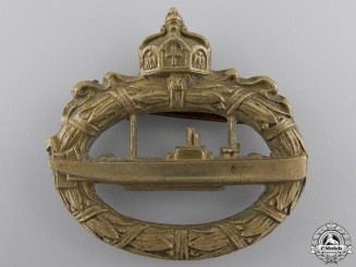 A First War German Imperial Naval Submarine Badge