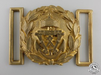 A First War German Naval (Kaiserliche Marine) Officer's Belt Buckle