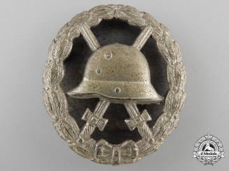 A First War German Wound Badge; Silver Grade Screwback