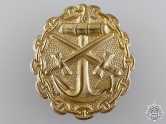 A First War Gold Grade Naval Wound Badge