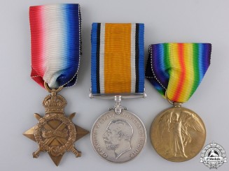 A First War Group to a Military Medal Recipient & KIA at Amiens