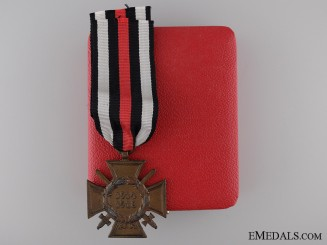 A First War Hindenburg Cross for Combatants; Cased