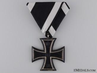 A First War Iron Cross Second Class on Austrian Ribbon & Marked