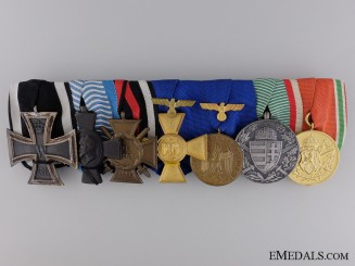 A First War Iron Cross & Long Service Medal Bar