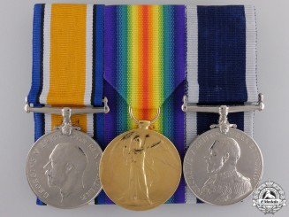 A First War Long Service Trio to the Royal Marine Light Infantry
