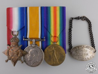 A First War Medal Trio to former NWMP; 2nd Canadian Infantry