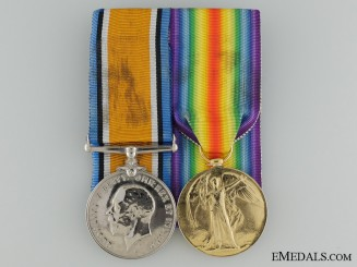 Canada A First War Medal Pair to the Army Service Corps