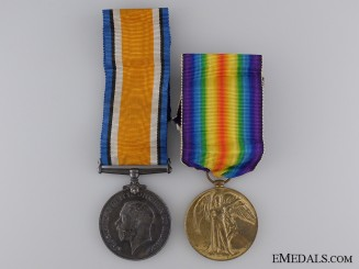 A First War Medal Pair to the Royal Army Medical Corps