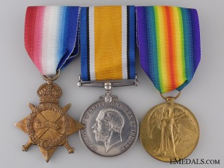 A First War Medal Group to the 20th Canadian Infantry CEF