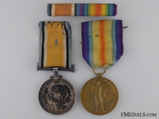 Canada. A First War Medal Pair to the 14th Infantry CEF