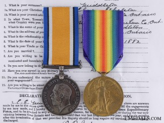 Canada. A First War Medal Pair to the Railway Troops
